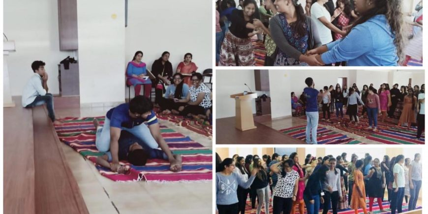 Self defense training in Dayananda Sagar Business Academy